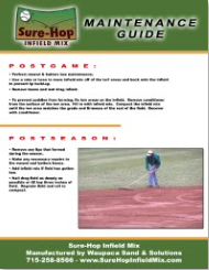 Infield Postseason and Postgame Maintenance Guide